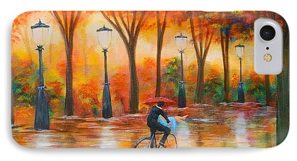 IPhone Case featuring the painting Amorous Rain by Chris Fraser
