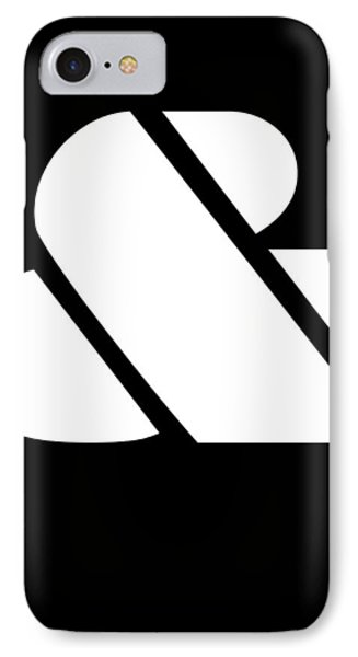 Ampersand Black And White IPhone Case by Naxart Studio