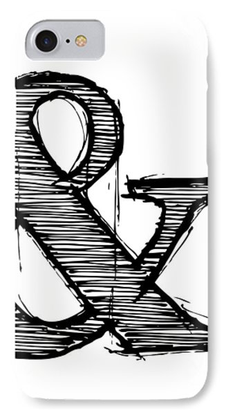 Ampersand Poster 1 IPhone Case by Naxart Studio
