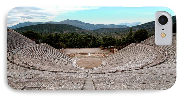 Amphitheatre At Epidaurus 2 IPhone Case by Deborah Smolinske