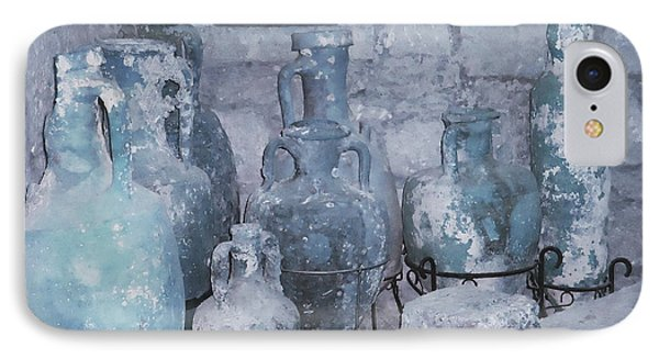 Amphora In Blue IPhone Case by Ann Johndro-Collins
