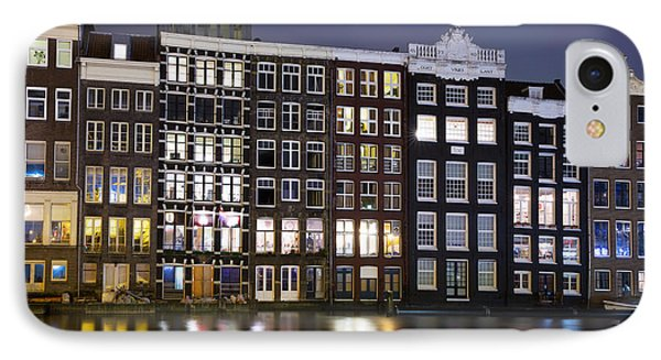 Amsterdam At Night IPhone Case by Jane Rix