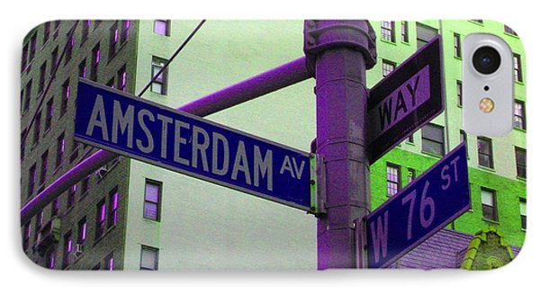 Amsterdam Avenue IPhone Case by Susan Carella