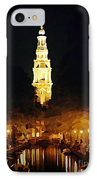 Amsterdam Church And Canal Phone Case by John Malone