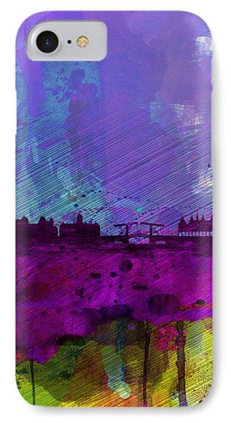 Amsterdam Watercolor Skyline Phone Case by Naxart Studio