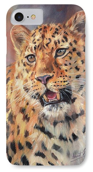 Amur Leopard IPhone Case by David Stribbling