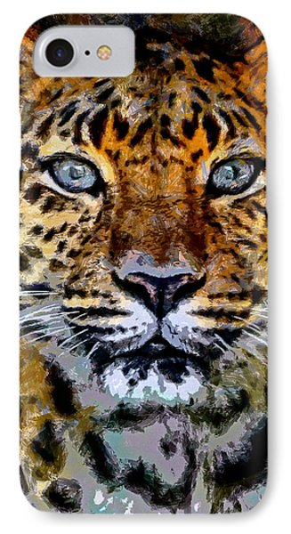 Amur Leopard Stare IPhone Case by Ernie Echols
