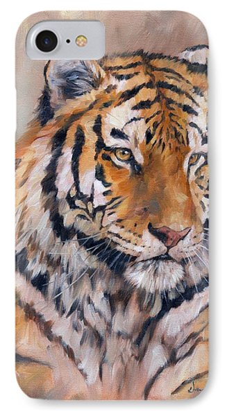 Amur Tiger IPhone Case by David Stribbling