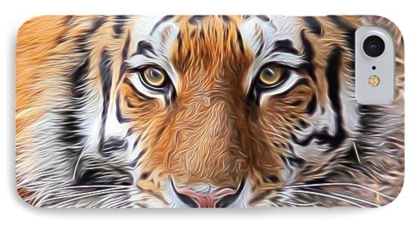 Amur Tiger Portrait IPhone Case by Diane Alexander