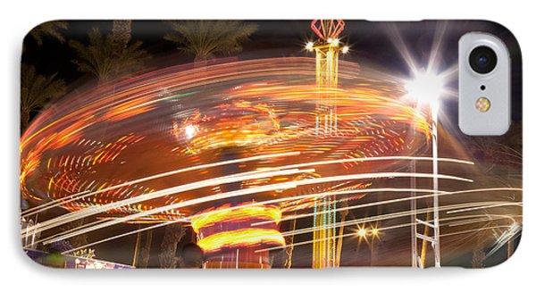 Amusement Park Ride Swirls  IPhone Case by Matthew Bamberg