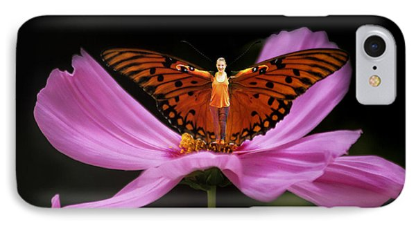 IPhone Case featuring the photograph Amy The Butterfly by Susan Rovira