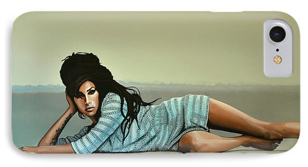 Amy Winehouse 2 IPhone 7 Case by Paul Meijering