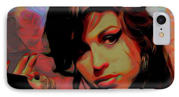 Amy Whinehouse IPhone Case by  Fli Art