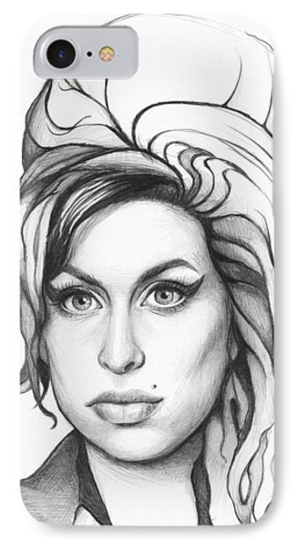 Amy Winehouse Phone Case by Olga Shvartsur