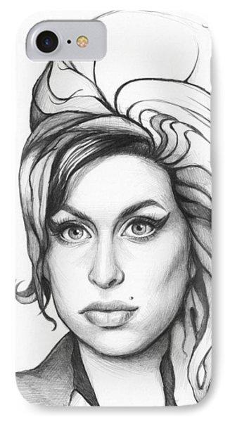 Amy Winehouse IPhone Case by Olga Shvartsur