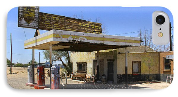 An Abandon Gas Station On Route 66 Phone Case by Mike McGlothlen
