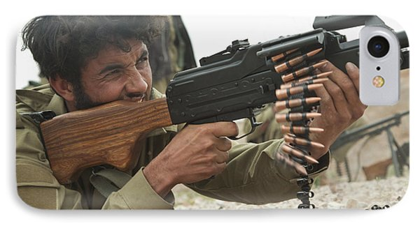 An Afghan Local Police Officer Fires Phone Case by Stocktrek Images