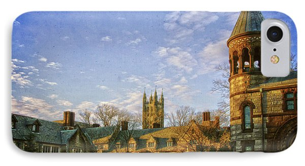 An Afternoon At Princeton IPhone Case by Debra Fedchin