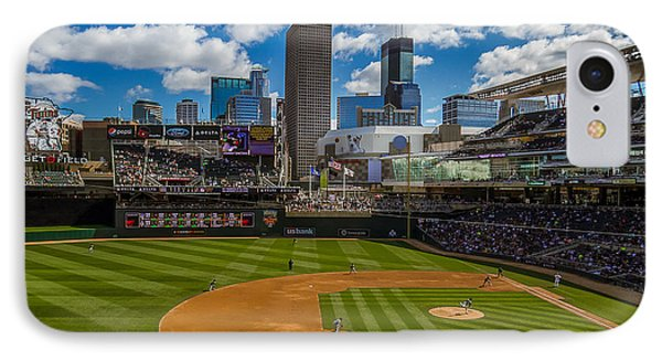 An Afternoon At Target Field IPhone Case by Tom Gort