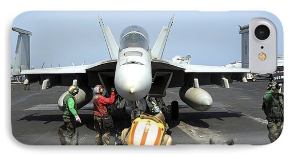 An Aircraft Director Signals Phone Case by Stocktrek Images