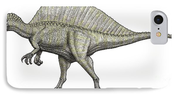 An Albino Spinosaurus IPhone Case by Vitor Silva