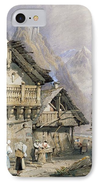 An Alpine Village IPhone Case by Samuel Prout