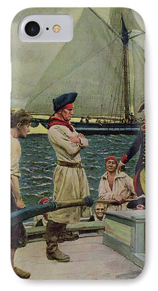An American Privateer Taking A British Prize, Illustration From Pennsylvanias Defiance IPhone Case