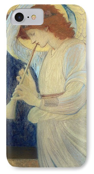 An Angel Playing A Flageolet IPhone Case by Sir Edward Coley Burne-Jones