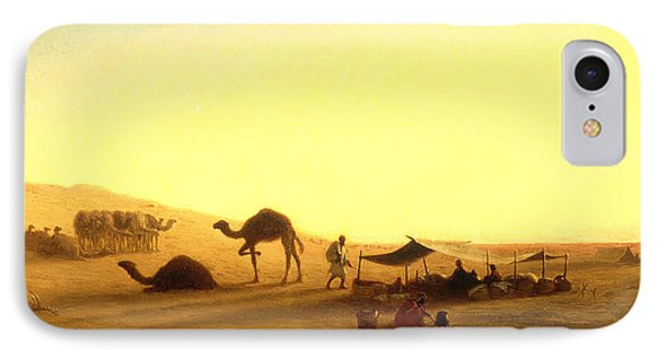 An Arab Encampment  IPhone Case by Charles Theodore Frere