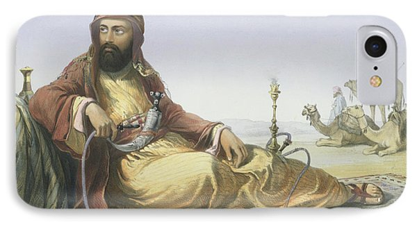 An Arab Resting In The Desert, Title IPhone Case by Emile Prisse d'Avennes