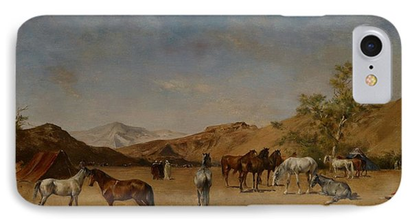 An Arabian Camp Phone Case by Eugene Fromentin