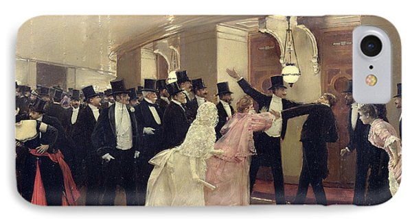 An Argument In The Corridors Of The Opera IPhone Case by Jean Beraud