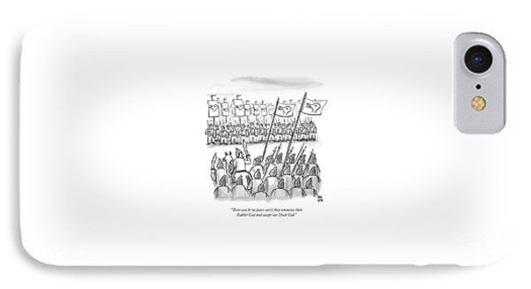 An Army Lines Up For Battle IPhone Case by Paul Noth