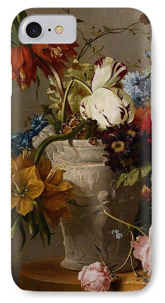An Arrangement With Flowers Phone Case by Georgius Jacobus Johannes van Os