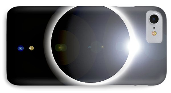 An Artists Depiction Of A Solar Eclipse IPhone Case by Marc Ward