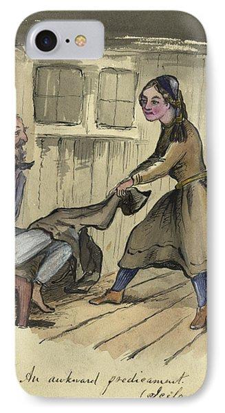 An Awkward Predicament Circa 1862 Phone Case by Aged Pixel