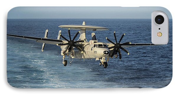 An E-2c Hawkeye Prepares To Land Phone Case by Stocktrek Images