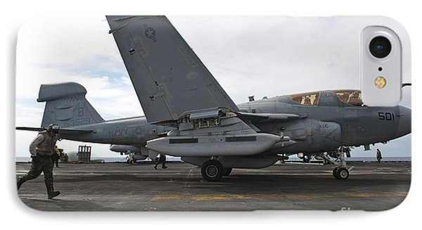 An Ea-6b Prowler Prepares To Launch Phone Case by Stocktrek Images