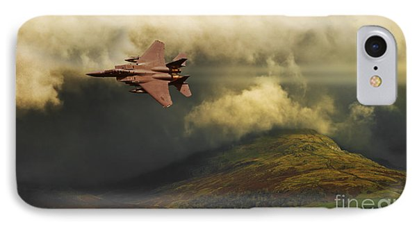IPhone Case featuring the photograph An Eagle Over Cumbria by Meirion Matthias