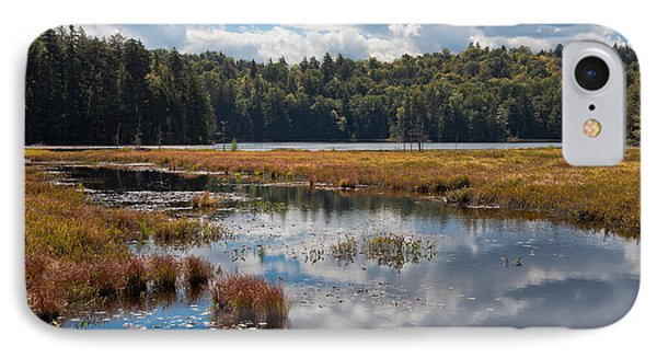 An Early Autumn Day On Cary Lake IPhone Case