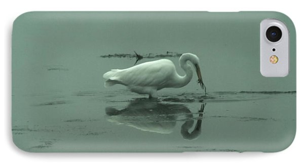 An Egret Feeding Phone Case by Jeff Swan