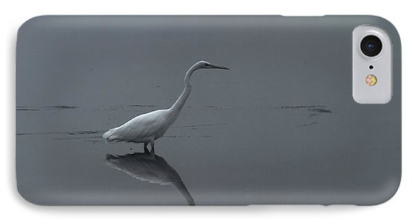 An Egret Standing In Its Reflection Phone Case by Jeff Swan