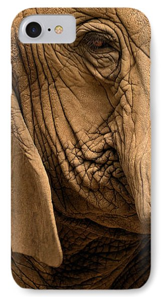An Elephant's Eye IPhone Case by Nadalyn Larsen