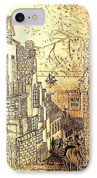 An English Fishing Village IPhone Case by Hazel Holland