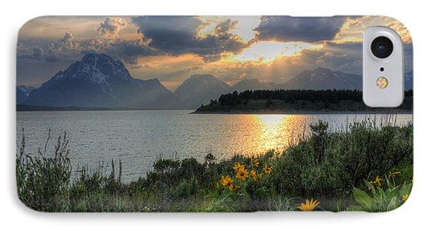 An Evening At Jackson Lake IPhone Case
