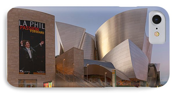 IPhone Case featuring the photograph An Evening With Gustavo - Walt Disney Concert Hall Architecture Los Angeles by Ram Vasudev