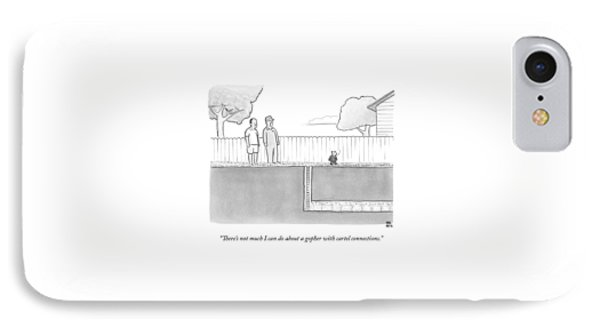 An Exterminator And Home-owner Look IPhone Case by Paul Noth