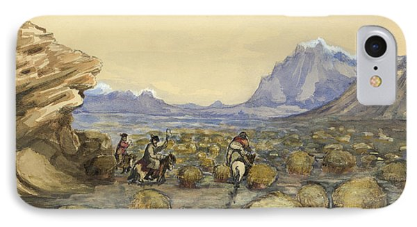 An Icelandic Bog Circa 1862 IPhone Case by Aged Pixel