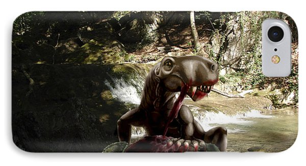 An Inostrancevia Eating The Flesh IPhone Case by Yuriy Priymak