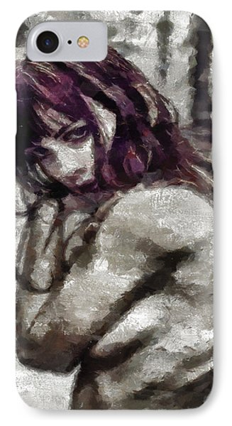 IPhone Case featuring the painting An Insecure Heart by Joe Misrasi
